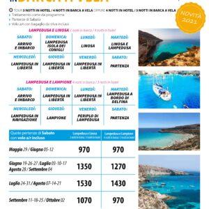 Lampedusa con Crociera in Barca a Vela