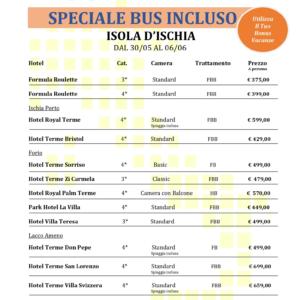 Ischia Hotel + Bus da Umbria & Toscana